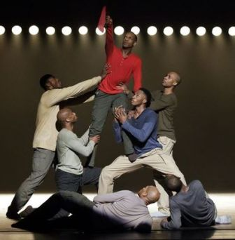 """Members of Alvin Ailey American Dance Theater in """"Uprising."""""""