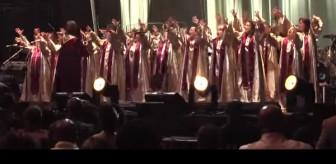 The Quebec Celebration Gospel Choir performs at McDonald's Gospelfest at the Prudential Center in Newark i 2010.