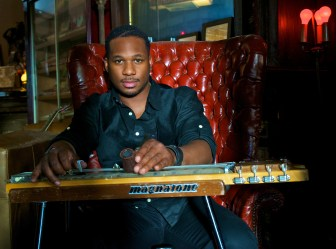 Robert Randolph with his pedal steel guitar.