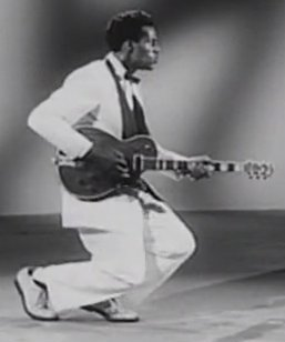 "Chuck Berry in the movie ""Rock, Rock, Rock!"""