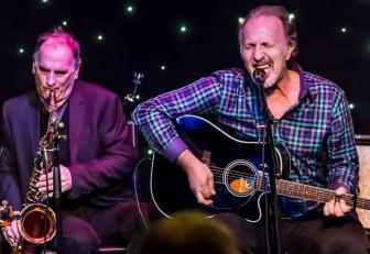 Eddie Manion and Joe Grushecky perform at Light of Day 2015.