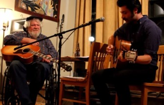 """Songwriter H.R. """"Stoney"""" Stoneback, left, and Christopher Paolini."""