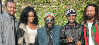 "Aston ""Family Man"" Barrett, center, leads the current lineup of The Wailers."