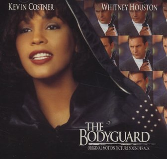 "The cover of the soundtrack album for the movie, ""The Bodyguard."""