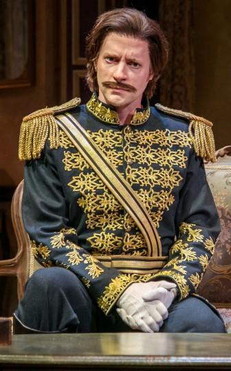 Barker as the dashing fictional guardsman.