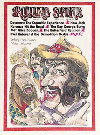 Dr. Hook and the Medicine, on the cover of Rolling Stone magazine.