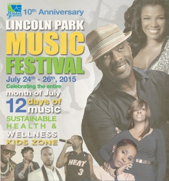 A poster advertising the Lincoln Park Music Festival.