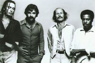Weather Report, circa 1978 (from left, Jaco Pastorius, Peter Erskine, Joe Zawinul and Wayne Shorter).