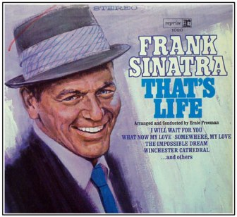 """The cover of Frank Sinatra's album, """"That's Life."""""""