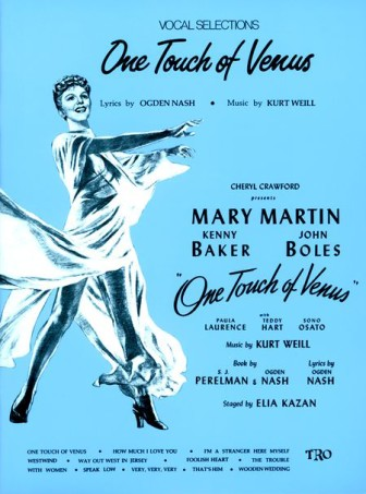 "The cover of a collection of sheet music for the musical, ""One Touch of Heaven."""