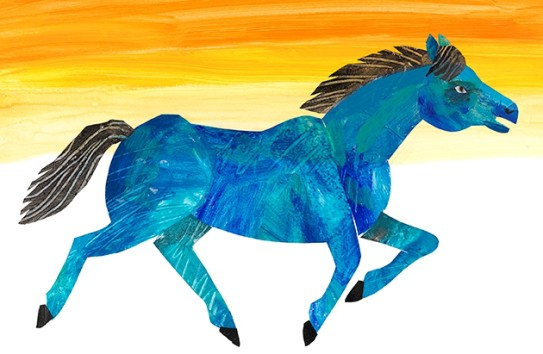 "This Eric Carle illustration for his 2011 book ""The Artist Who Painted a Blue Horse"" is on display at the Montclair Art Museum through Jan. 3, as part of the ""Eric Carle: Animals and Friends"" exhibit."