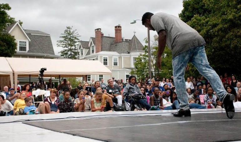 """Maurice Chestnut performs at Saturday's """"Dance on the Lawn"""" festival in Montclair."""
