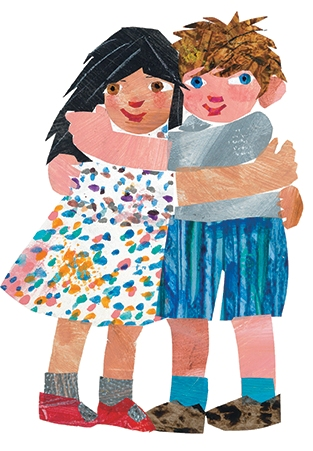 "Eric Carle's front cover illustration for his 2012 book, ""Friends."""
