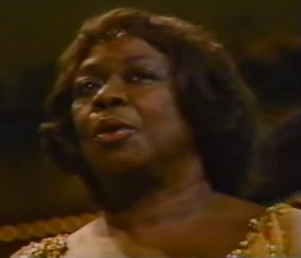 "Sarah Vaughan, performing ""September Song"" in 1984."
