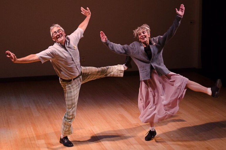 "Rick Kitts and Susan Thomasson dance in ""Can't Get Started."""