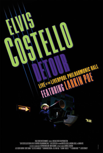 "Elvis Costello's concert film ""Detour"" will be shown at the Count Basie Theatre Jan. 14."
