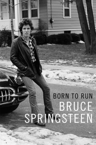 "The cover of Bruce Springsteen's autobiography, ""Born to Run."""