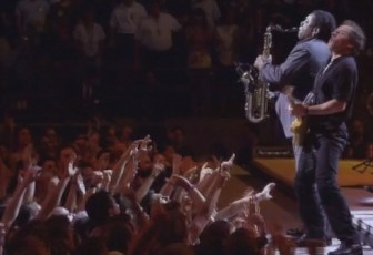 "Bruce Springsteen and Clarence Clemons play ""Thunder Road."""