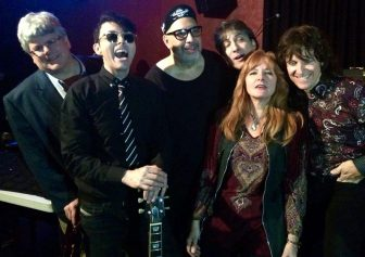 From left, Jay Lustig, Richard Barone, Pat DiNizio, Nick Celeste, Kristin Pinell of The Grip Weeds, and Kurt Reil of The Grip Weeds.