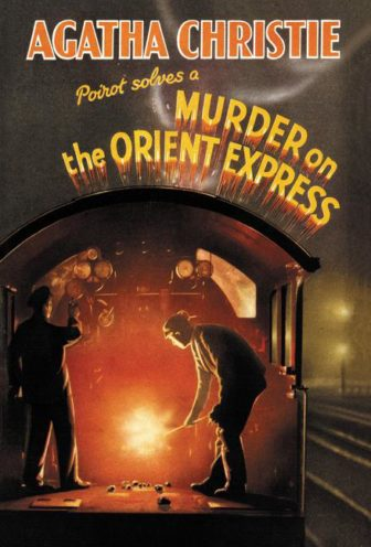 "The first edition cover of Agatha Christie's 1934 novel, ""Murder on the Orient Express."""