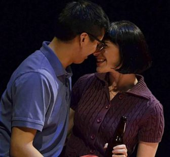 """Timothy Liu and Molly Densmore in """"Start Down."""""""
