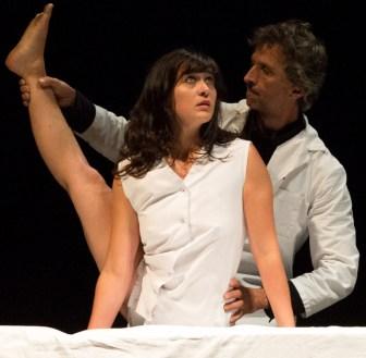 """Raphaëlle Boitel with Tristan Baudoin in """"The Forgotten: L'Oublié(e)."""""""