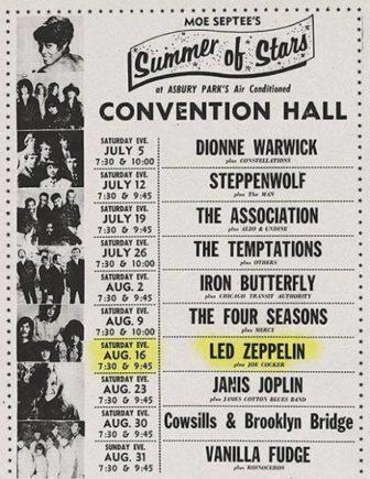 Led Zeppelin Asbury Park 1969