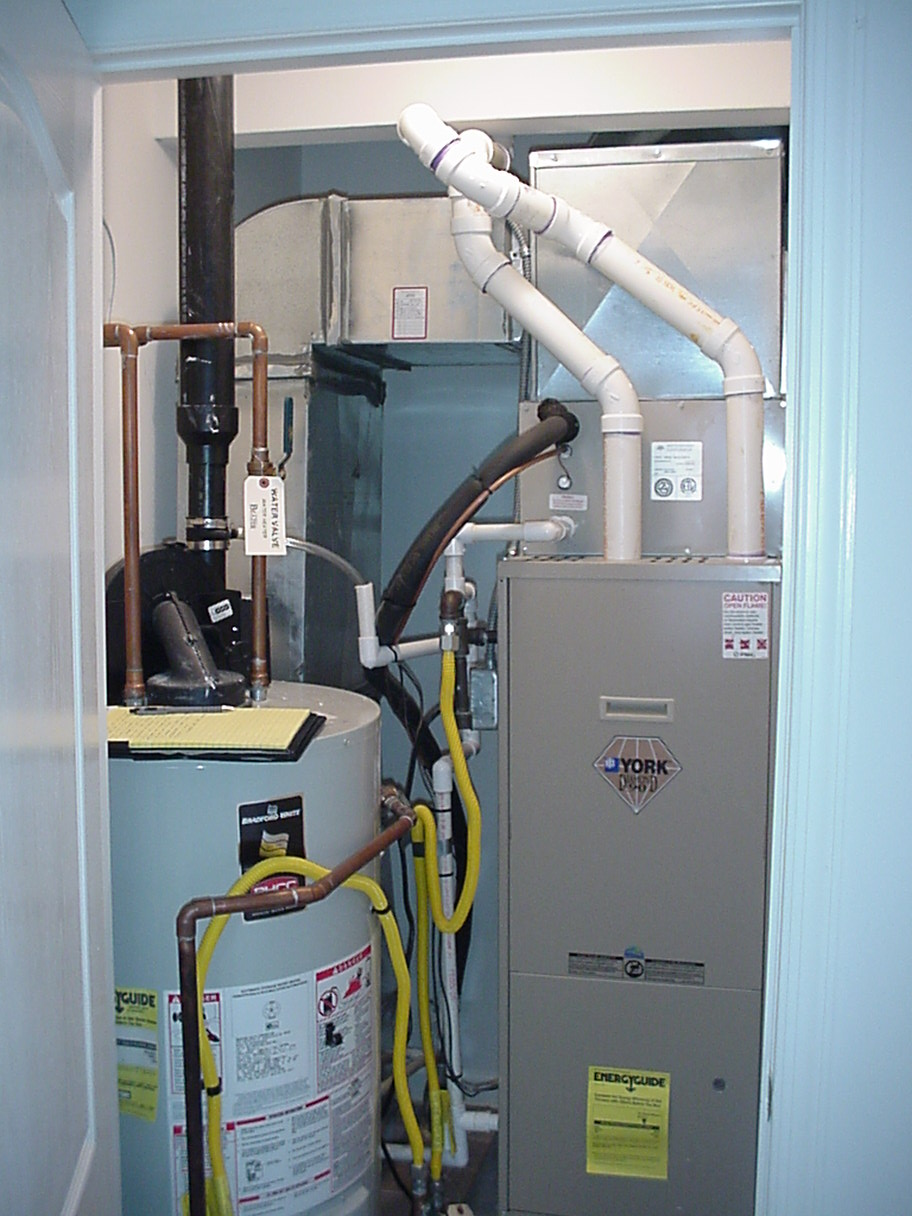 Hot Water Heater And Furnace Venting, Hot, Free Engine