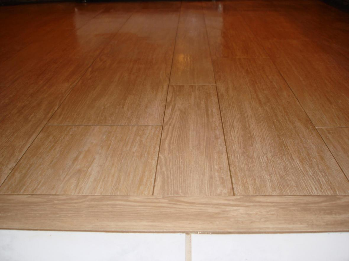 kitchen wood tile floor compact transition new jersey custom