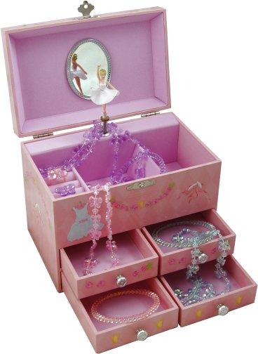 Amelia Pink Ballerina Musical Jewellery Box Ballet Music