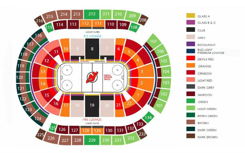 Devils arena seating chart www napma net