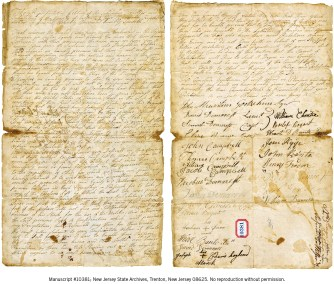 New Jersey State Archives—MSS 10381