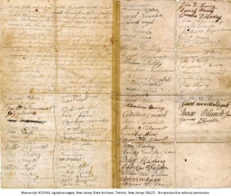 New Jersey State Archives—MSS 10949