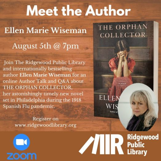 "Meet the Author: Ellen Marie Wiseman, ""The Orphan Collector"""