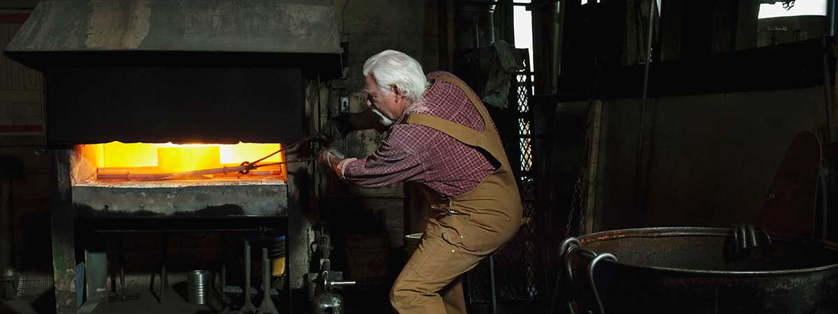 Man working with machinery