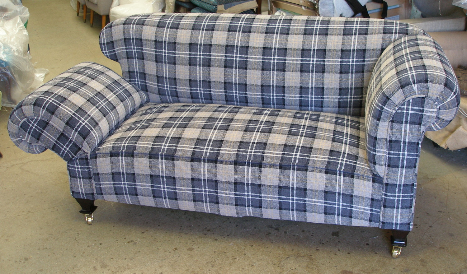 tartan chesterfield sofa red living room pinterest edwardian 1930s double drop arm 2str sold njh
