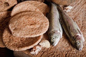 Loaves and fishes tiny