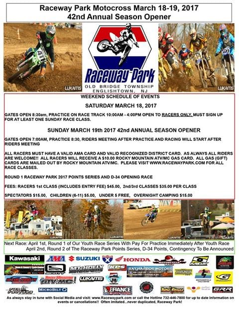 Raceway Park Opening Day March 19th