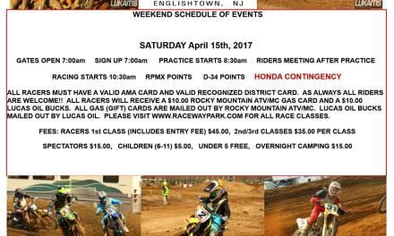 Raceway Park Weekend Schedule