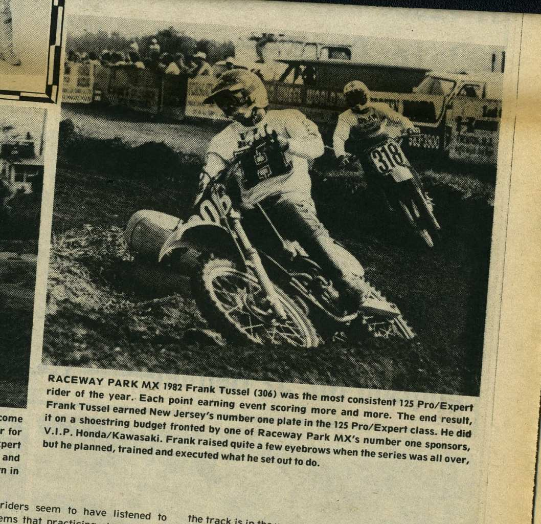Frank Tussel Raceway News 1982