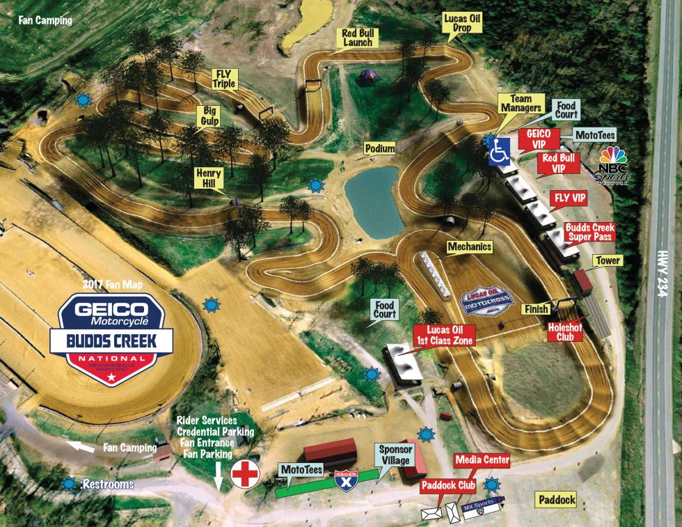 budds creek fan map
