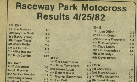 Raceway Park Results April 25, 1982