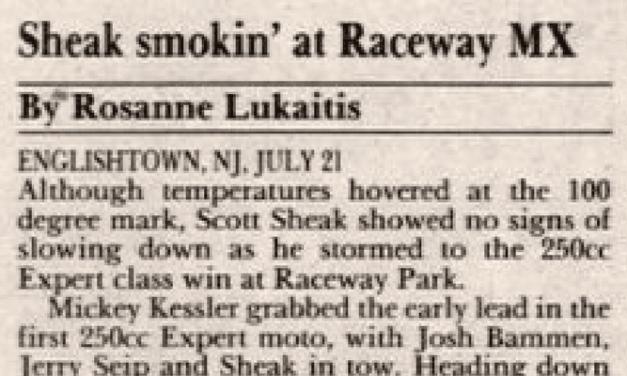 Raceway Park MX Results 7/21/91