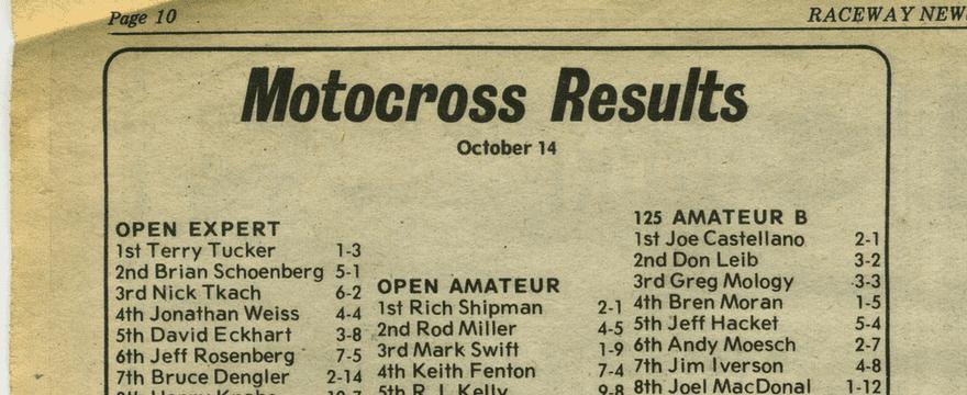 Raceway Park Results 10/14/79