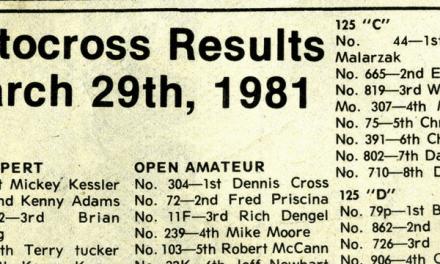 Raceway Park Results 3/29/81