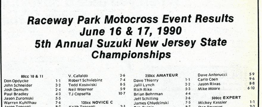 Raceway Park Results 6/16-17/90