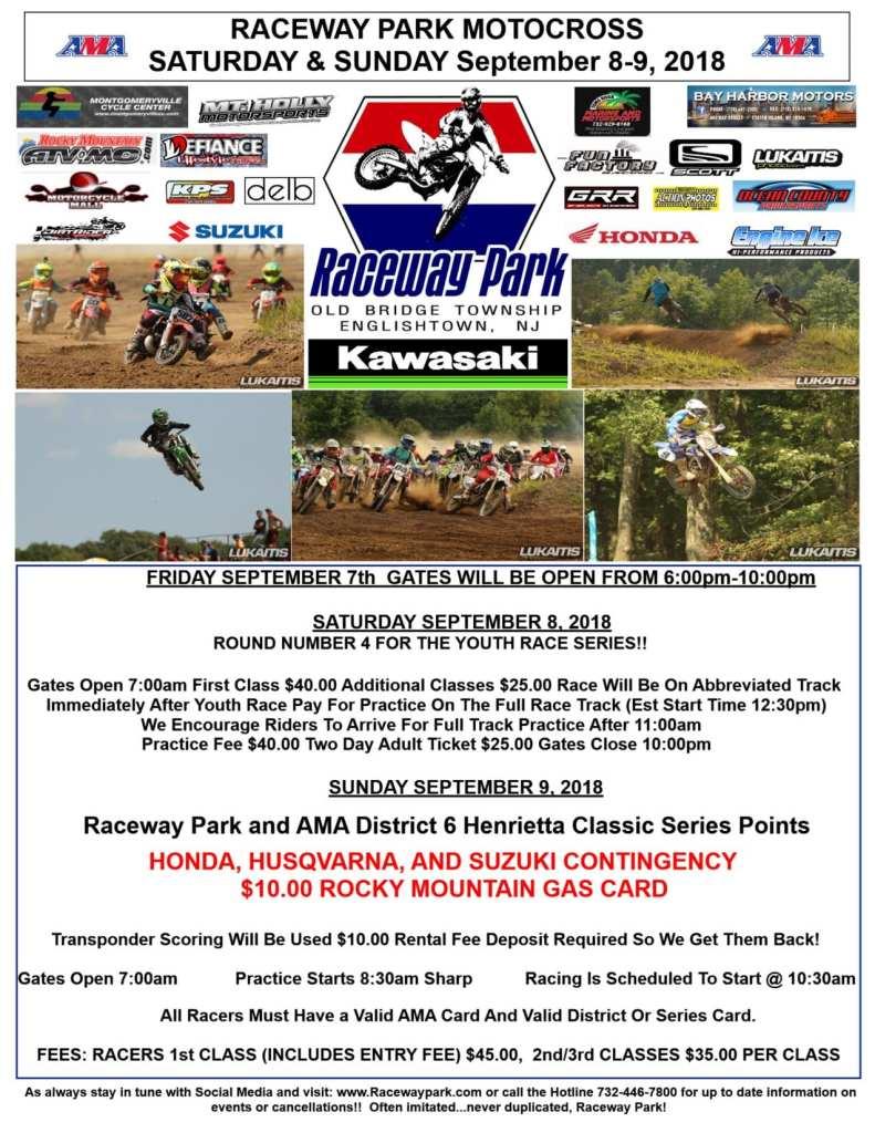 raceway park flyer