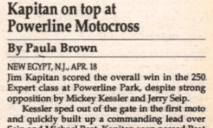 Powerline Park results from 4/18/93