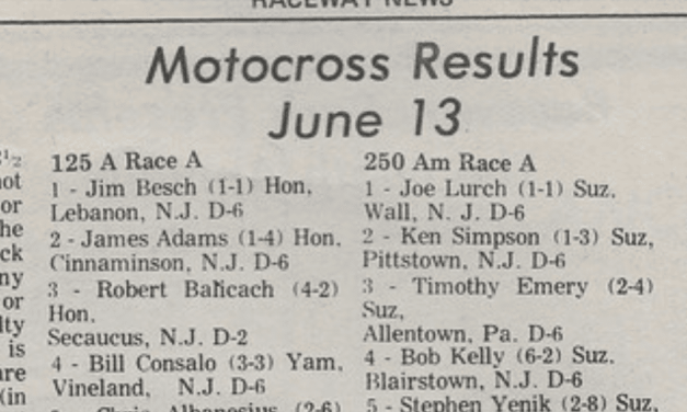 Raceway Park Results from 6/13/76