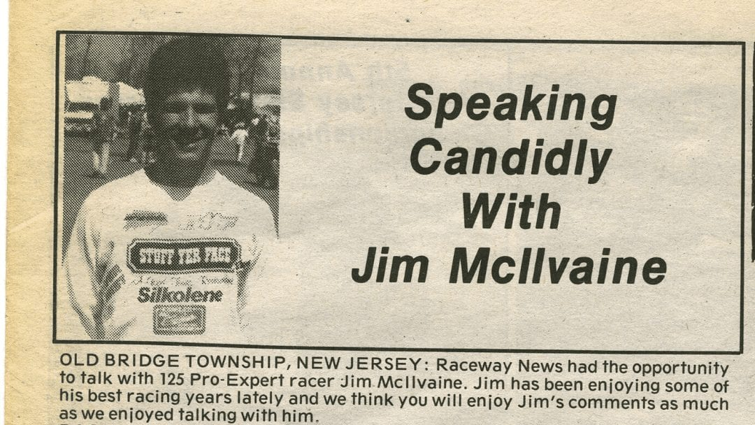 Raceway News Flashback – Jim McIlvaine Interview 1990